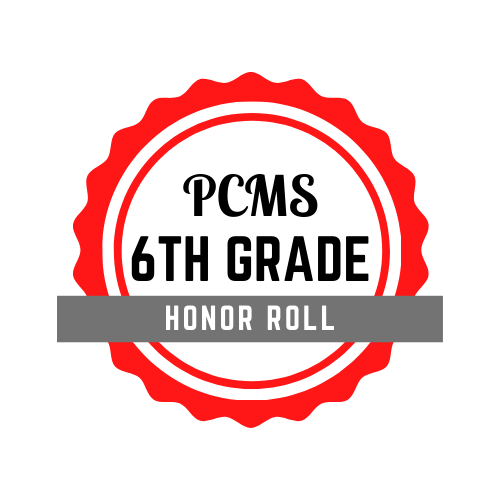 PCMS 6th Grade Honor Roll