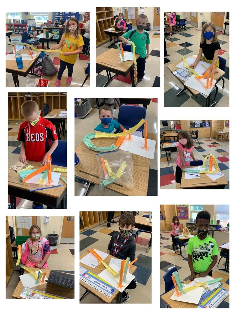 Photos of students with their STEAM projects