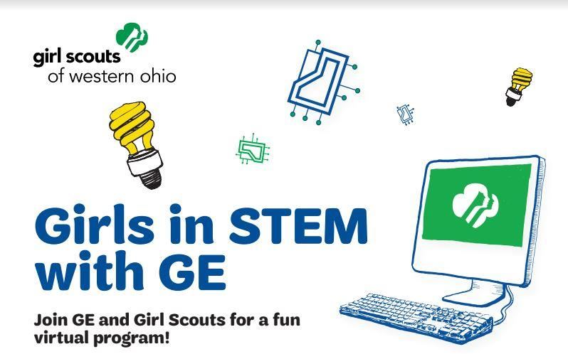 Girls in STEM with GE logo