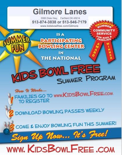 Kids Bowl Free Summer Program
