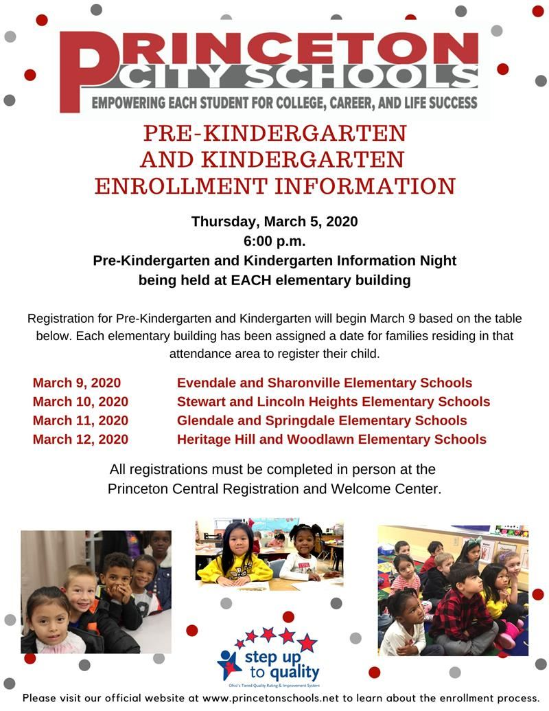 Enrollment Flyer PreKinder and Kindergarten