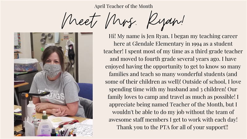 April Teacher of the Month