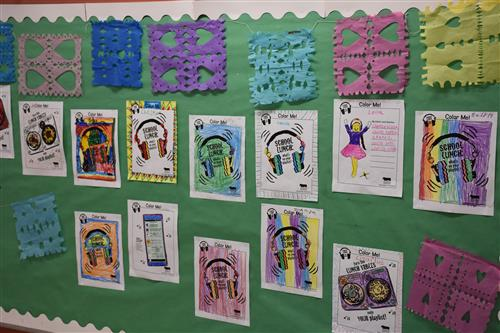 Students created art work to celebrate NSLW19