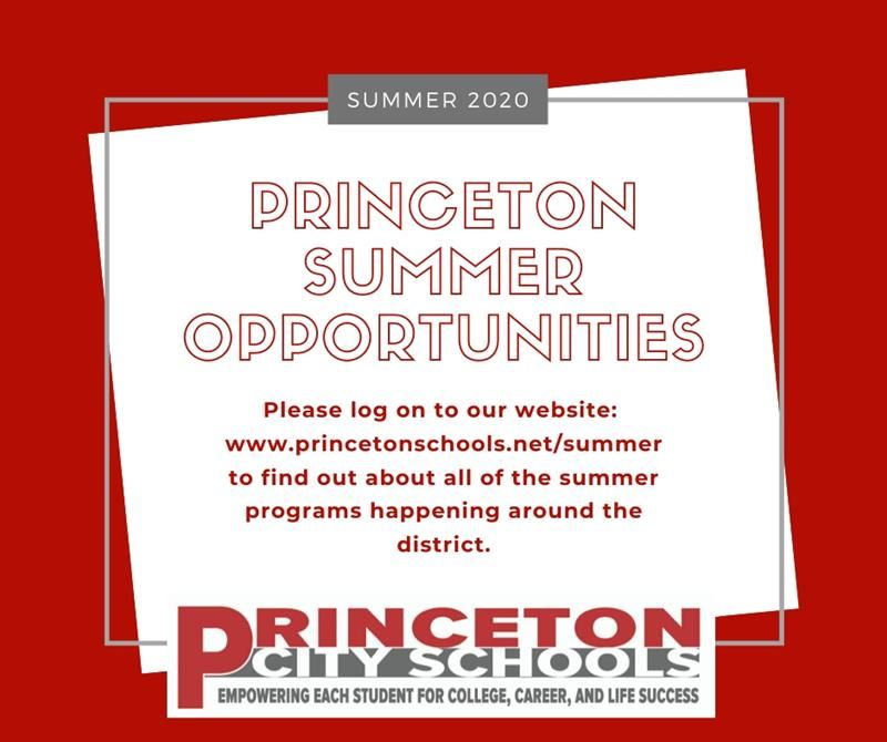 Summer Opportunitites Information