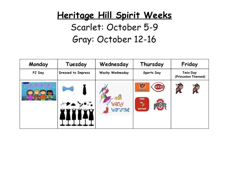 Spirit Weeks Flyer