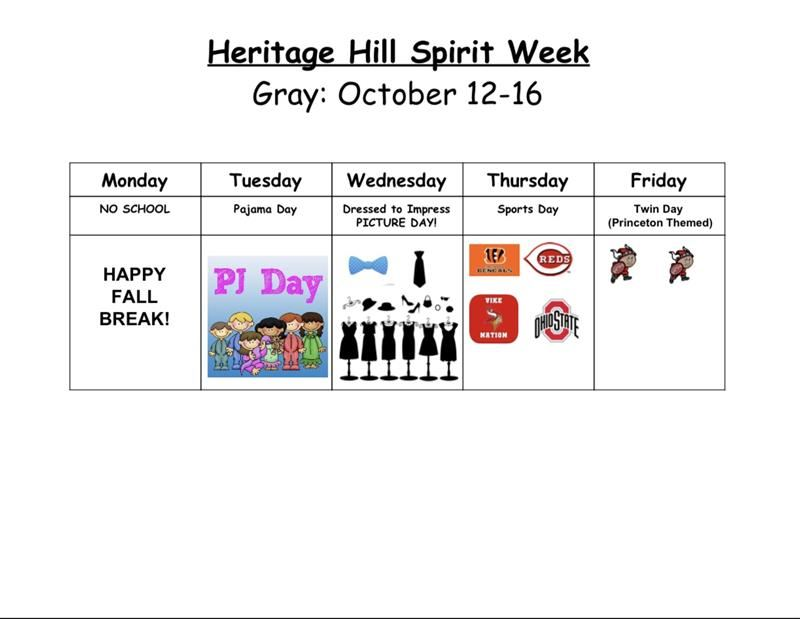 Spirit Week Graphic