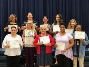staff members recognized for milestone years of service