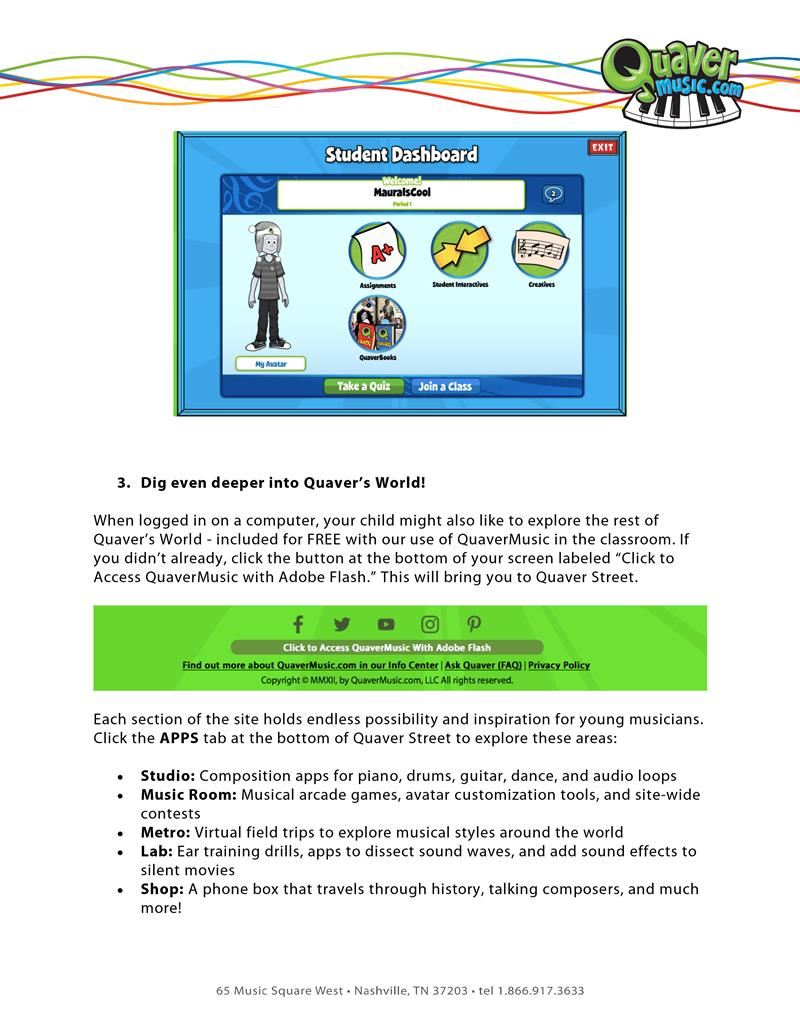 Quaver log in guide page 3