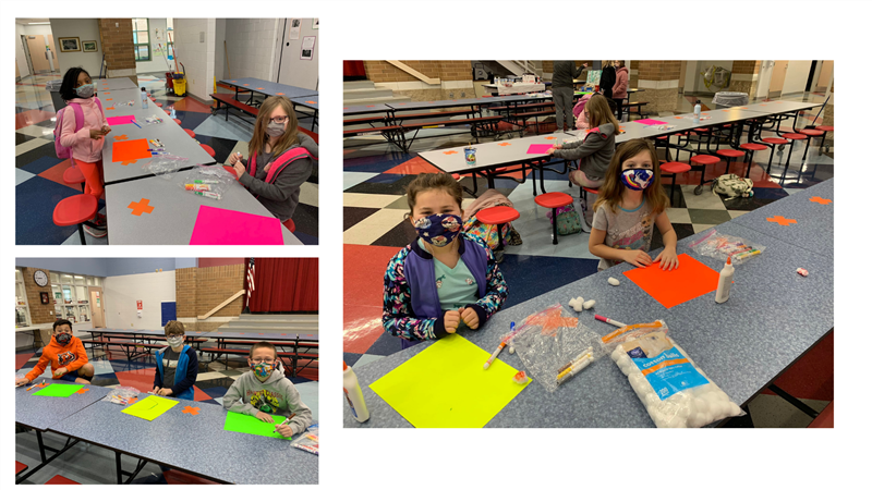 students in SH Student Council making posters for Spirit Days