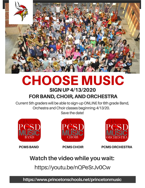 Band, Choir, Orchestra Sign Up