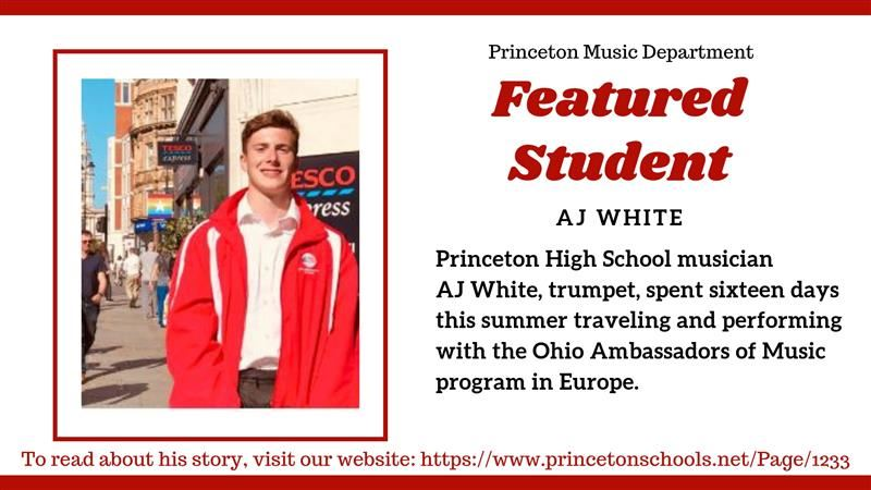 Featured Music Student AJ White post