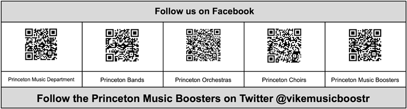 Music Boosters QR Codes