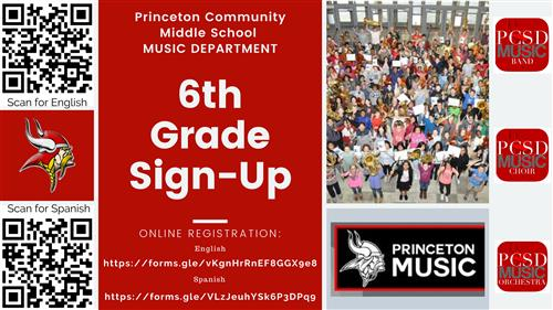 6th Grade Sign up