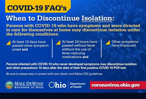 When to Discontinue Isolation