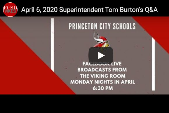 Superintendent Q & A Facebook Live Event April 6, 2020