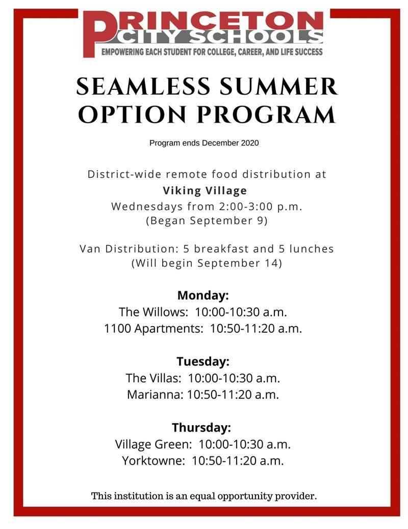 Seamless Summer Option Program Extended