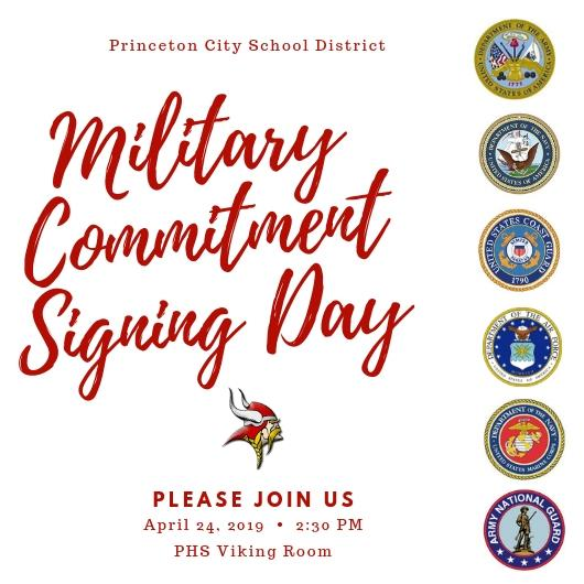 Military Commitment Signing Day