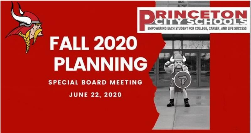 Princeton Board of Education Special Meeting - Reopening School Options