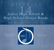 PCMS Band Students Selected for OMEA District 14 Junior High Honor Band