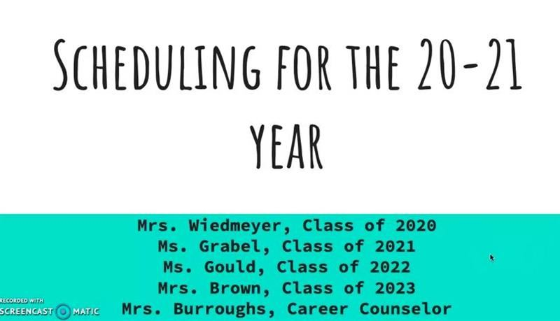 Scheduling For the 20 21 School year