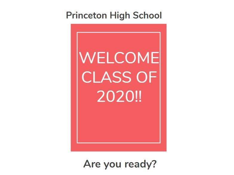 Graphic for welcome class of 2020