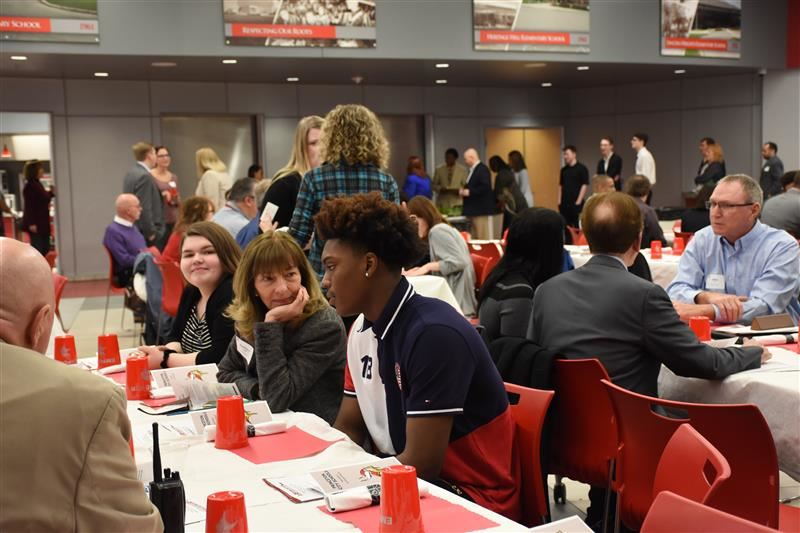 Business Partners speak with Princeton students