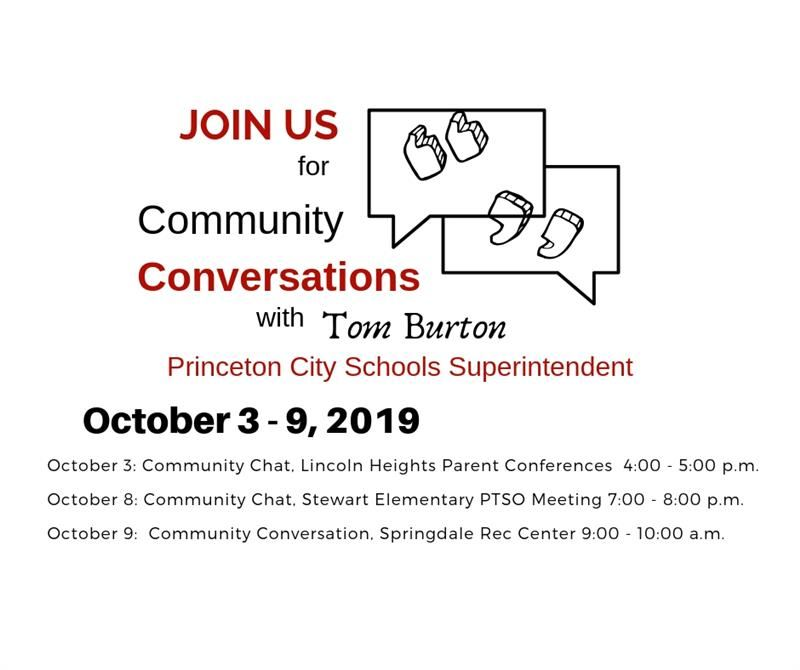 Graphic for Community Conversations October 3 - 9