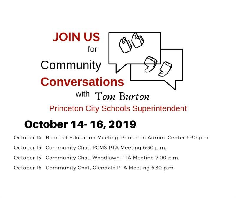 Graphic for Community Conversations October 14 - 16