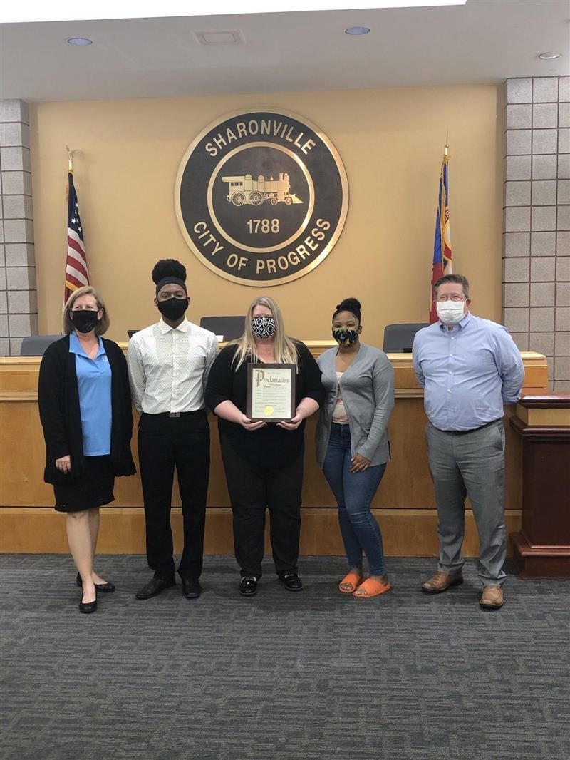 The City of Sharonville Recognizes Princeton Business Students