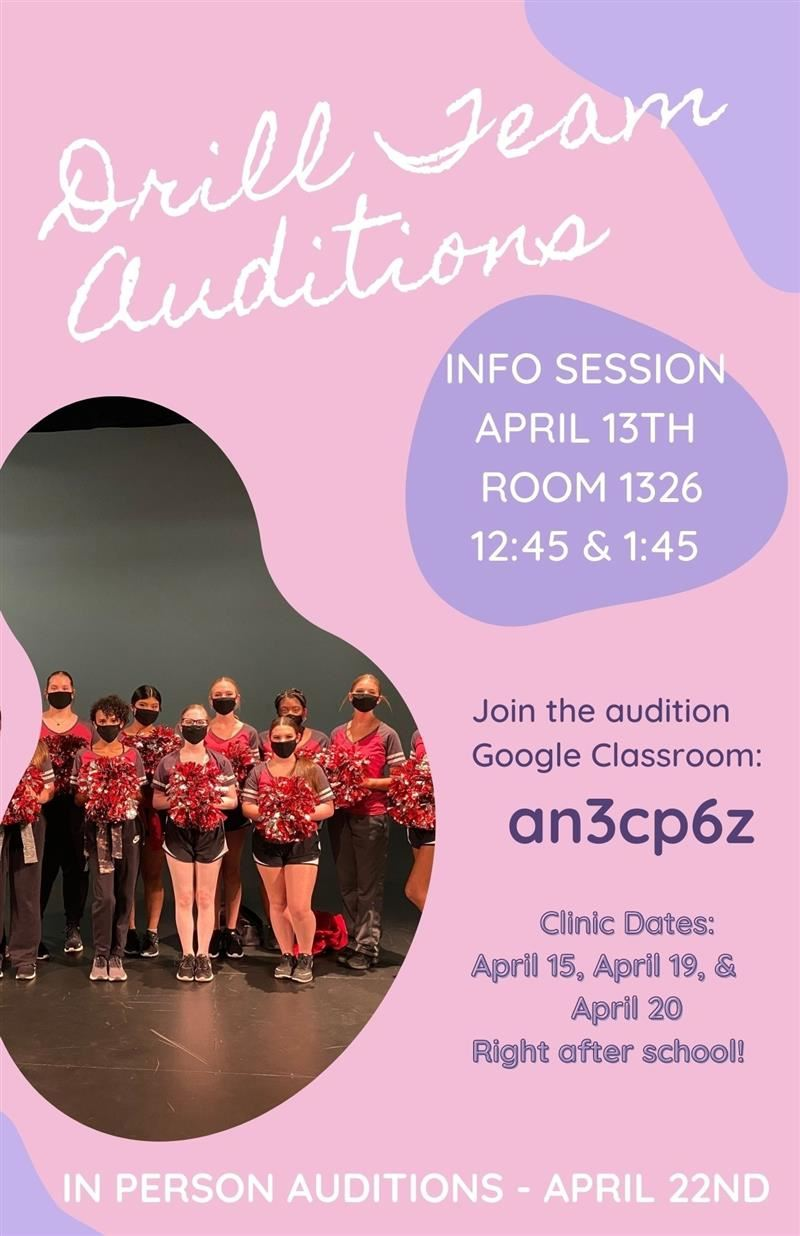 Drill team Auditions