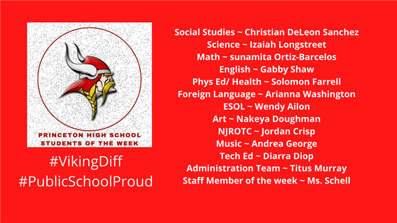 PHS Students of the Week