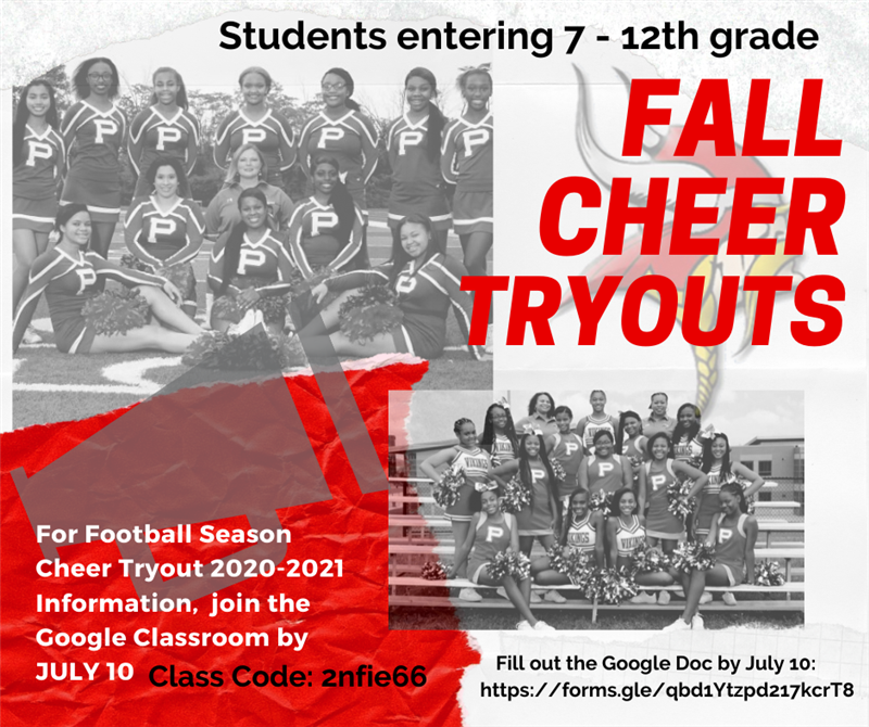 Fall Season Cheer Tryouts