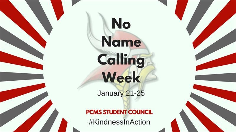 No Name Calling Week at PCMS