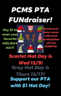 PCMS PTA Holiday Hat Day