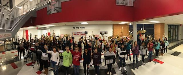 PMCS Band Gets Students and Staff in the Holiday Spirit