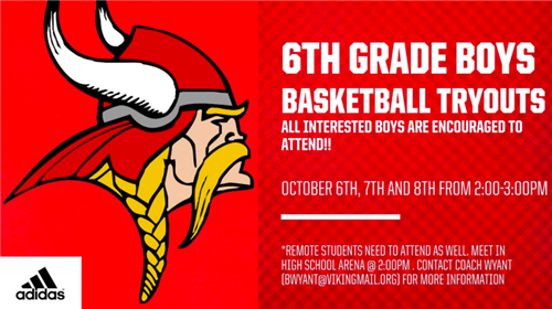 6th Grade Boys Basketball Tryouts
