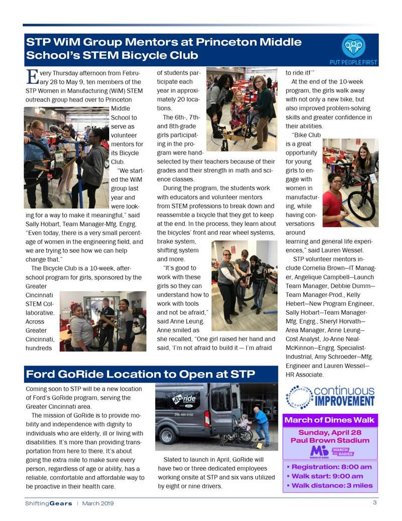 Bike Club Featured in Ford Newsletter