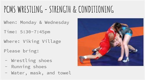 PCMS Wrestling- Strength & Conditioning